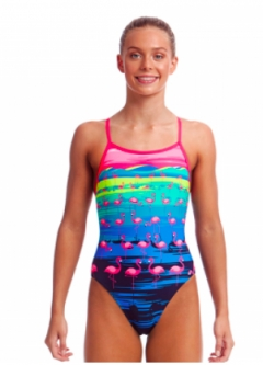 funkita flamingo flood single strap