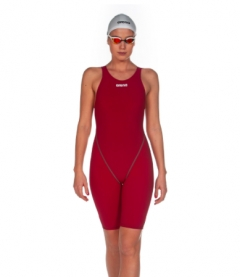 arena st 2.0 ladies kneeskin - deep red